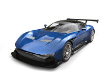 Carro de corridas moderno dos esportes do azul de aço ilustração stock