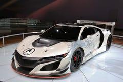 Carro de corridas 2018 novo de Acura na exposição na feira automóvel internacional norte-americana Fotos de Stock Royalty Free