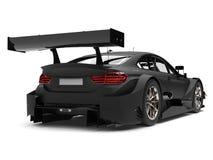 Carro de corridas super preto matte - opinião traseira da asa ilustração do vetor