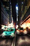 Carro de corridas urbano da noite Foto de Stock Royalty Free