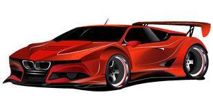 Carro de corridas vermelho personalizado M1 de BMW Imagens de Stock Royalty Free