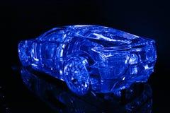 Carro de cristal do conceito Imagens de Stock