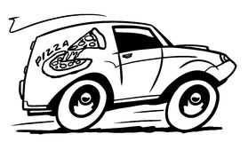 Carro de entrega da pizza Imagens de Stock