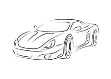Carro de esportes ilustração royalty free