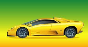 Carro de esportes amarelo Imagem de Stock