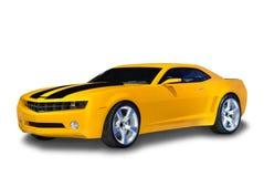 Carro de esportes amarelo Foto de Stock Royalty Free