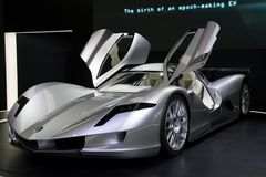 Carro de esportes de Aspark Owl Electric Supercar Concept Imagem de Stock