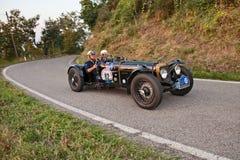 Carro de esportes britânico Alvis do vintage 12/70 de Special 1939 no clássico fotos de stock royalty free