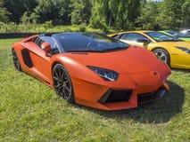 Carro de esportes de Lamborghini Aventador Foto de Stock Royalty Free