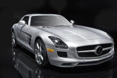 Carro de esportes de prata Imagens de Stock Royalty Free