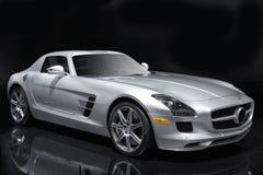 Carro de esportes de prata Foto de Stock Royalty Free