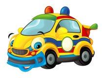 Carro de esportes dos desenhos animados que sorri e que olha - como a ambulância Foto de Stock Royalty Free