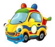 Carro de esportes dos desenhos animados que sorri e que olha - como a ambulância Fotografia de Stock