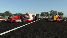 Carro de esportes F1 ilustração royalty free