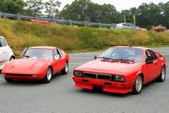 Carro de esportes grande do prix de Lombardi da autorização clássica do carro de esportes do escorpião de Lancia fotos de stock