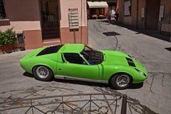 Carro de esportes Lamborghini do vintage Miura Imagem de Stock