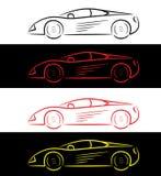 Carro de esportes - logotipo ilustração royalty free