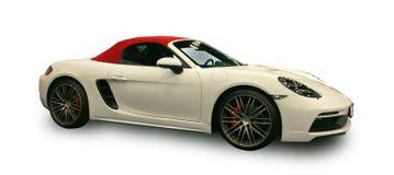 Carro de esportes luxuoso alemão novo Fundo branco imagem de stock royalty free