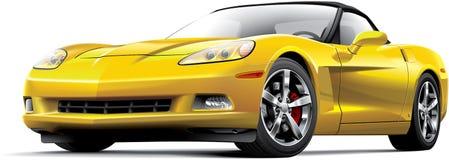 Carro de esportes luxuoso americano ilustração royalty free
