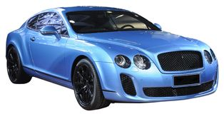 Carro de esportes luxuoso isolado Imagem de Stock