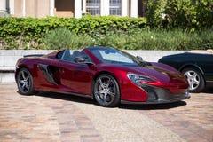Carro de esportes de McLAren convertível fotografia de stock royalty free