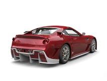 Carro de esportes moderno carmesim metálico com detalhes brancos ilustração royalty free