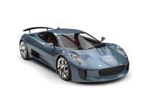 Carro de esportes moderno super do azul de aço ilustração royalty free