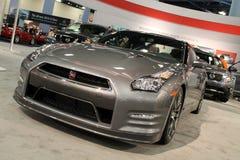 Carro de esportes novo dianteiro na feira automóvel Imagens de Stock