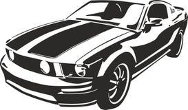 Carro de esportes preto Fotografia de Stock
