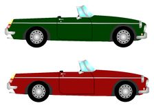 Carro de esportes retro Imagens de Stock Royalty Free