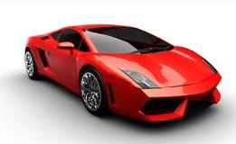 Carro de esportes vermelho Foto de Stock Royalty Free