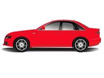 Carro de esportes vermelho Imagens de Stock