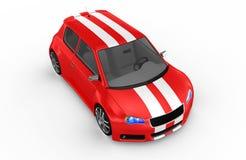 Carro de esportes vermelho - 3D rendem ilustração stock