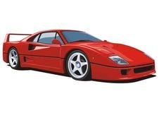 Carro de esportes vermelho Fotografia de Stock