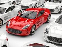 Carro de esportes vermelho bonito ilustração do vetor