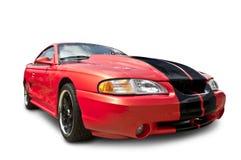 Carro de esportes vermelho da cobra do mustang Imagem de Stock Royalty Free
