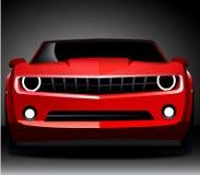 Carro de esportes vermelho do camaro de Chevrolet Foto de Stock