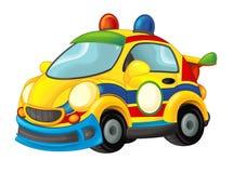 Carro de esportes de vista engraçado dos desenhos animados Imagem de Stock
