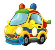 Carro de esportes de vista engraçado dos desenhos animados Imagem de Stock Royalty Free