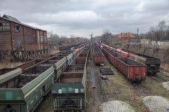 Carro de estrada de ferro de carvão Fotografia de Stock Royalty Free