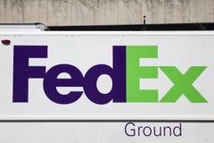 Carro de Federal Express fotografía de archivo libre de regalías