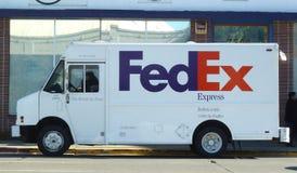 Carro de Federal Express Imágenes de archivo libres de regalías