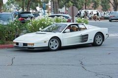 Carro de Ferrari Testarossa na exposição Imagem de Stock