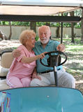 Carro de golf - conducción del asiento trasero Fotografía de archivo