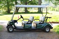 Carro de golf doble Imágenes de archivo libres de regalías