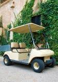 Carro de golf parqueado Imagen de archivo libre de regalías