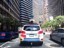 Carro de Google em San Francisco Foto de Stock Royalty Free