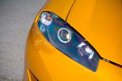Carro de Headlampon imagem de stock
