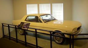Carro de James Earl Ray dentro do museu nacional dos direitos civis em Lorraine Motel foto de stock