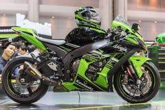 Carro de Kawasaki na expo internacional 2015 do motor de Tailândia Foto de Stock Royalty Free